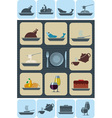 food and beverages icons set vector image