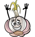 funny garlic vegetable cartoon vector image