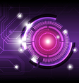 future digital button design background vector image vector image