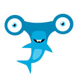 Hammerhead Shark Mascot vector image vector image