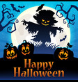 happy halloween sign thematic image 4 vector image vector image