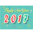 Happy New Year 2017 Watercolor numerals vector image