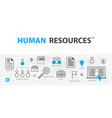 human resources web banner concept outline line vector image vector image