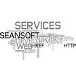 it services bangalore web development company vector image vector image