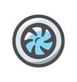 jet engine turbine icon cartoon vector image