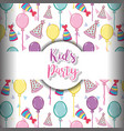 kids party background vector image vector image