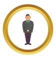 Man in a police uniform icon vector image vector image