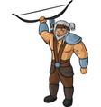 medieval hunter vector image