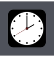 modern clock icon on gray vector image vector image