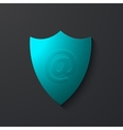 modern shield icon on gray vector image vector image