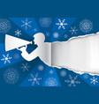 original christmas gift tag vector image vector image