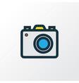 photo apparatus colorful outline symbol premium vector image vector image