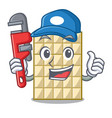 plumber isolated white chocolate with in character vector image