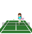 professional tennis player vector image