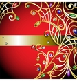 Red background with gold jewerly vector image vector image