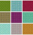 Retro style tiles seamless patterns set vector image