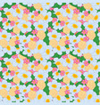 seamless pattern bright flowers vector image vector image