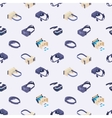 Seamless pattern with the virtual reality headsets vector image vector image