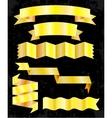 set banner ribbons vector image