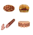 set of food from polygons vector image vector image
