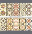 Set of ten seamless abstract patterns