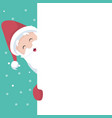 snowman christmas card over white poster vector image