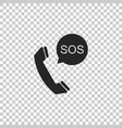 sos call icon isolated on transparent background vector image vector image