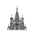 the most famous cathedral in moscow vector image
