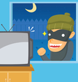 Thief Want to Steal Television vector image