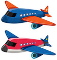 two airplanes on white background vector image vector image