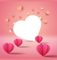 valentine day template love and heart vector image vector image
