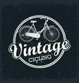 vintage bicycle stamp vector image vector image