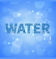 water drops realistic background vector image vector image