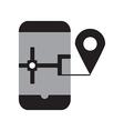 Smart phone navigation vector image