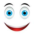 Smile emoticon sign vector image