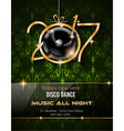 2017 Happy New Year Club Party Background for your vector image vector image