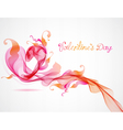 Abstract pink heart vector image