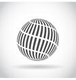 Abstract swirl sphere globe symbol vector image vector image
