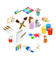 art icons set isometric 3d style vector image vector image