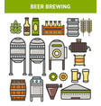 beer brewery factory production technology vector image