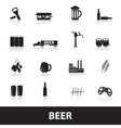 beer icons eps10 vector image vector image