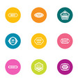 best sale icons set flat style vector image