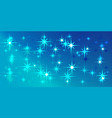 blue background with blue stars vector image