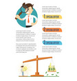 business infographics banner with businessmen vector image vector image
