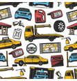 car auto transport service parts seamless pattern vector image vector image