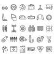 car part signs black thin line icon set vector image