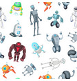 cartoon robots pattern or background vector image vector image