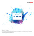 cassette icon - watercolor background vector image vector image