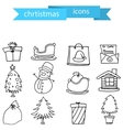 Christmas element icons set art vector image vector image