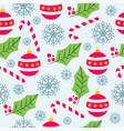 christmas seamless pattern with christmas globes vector image vector image